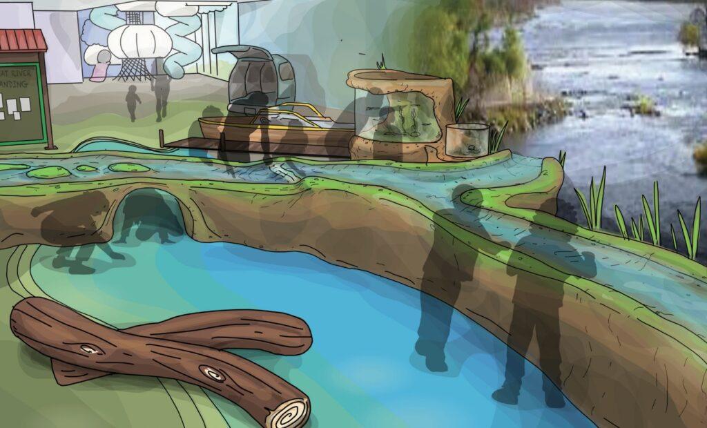 Great River Childrens Museum Water Render